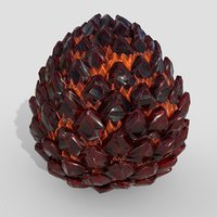 3D dragon egg pbr