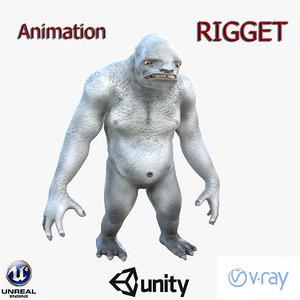 3D troll monster