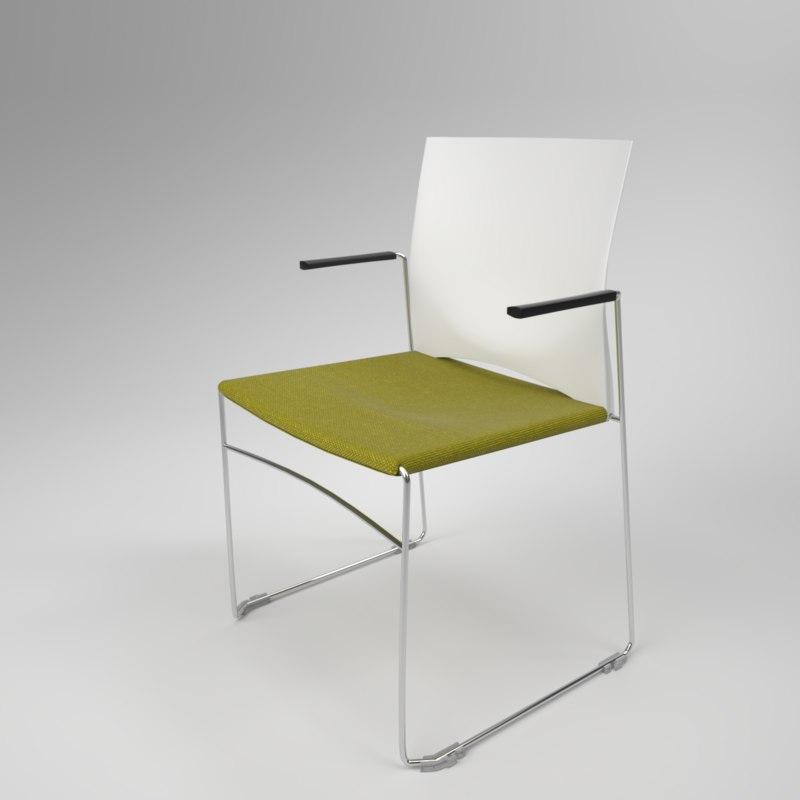 interior rim web armchair 3D