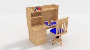 rubik cube furniture 3D model