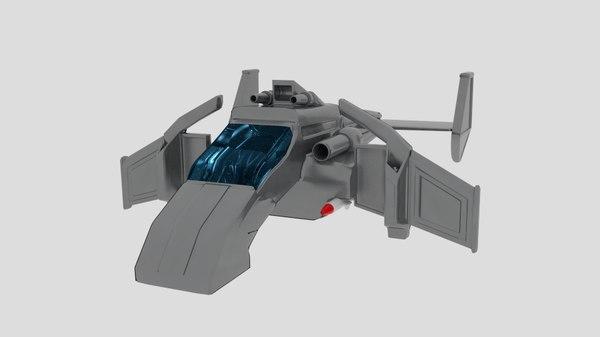 3D crt vtol x model