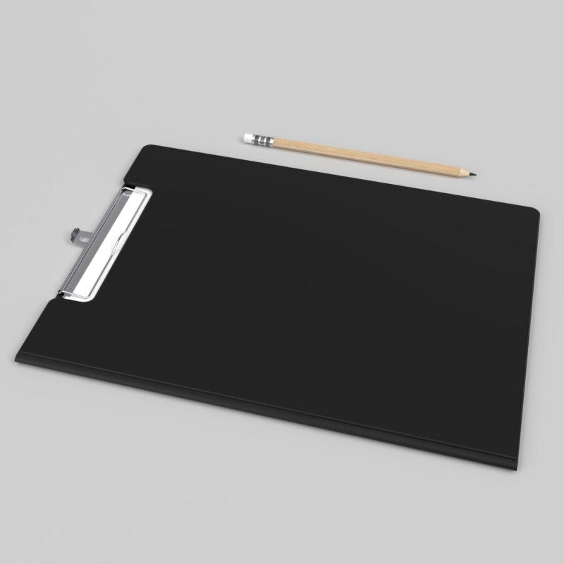 3D interior clipboard file folder