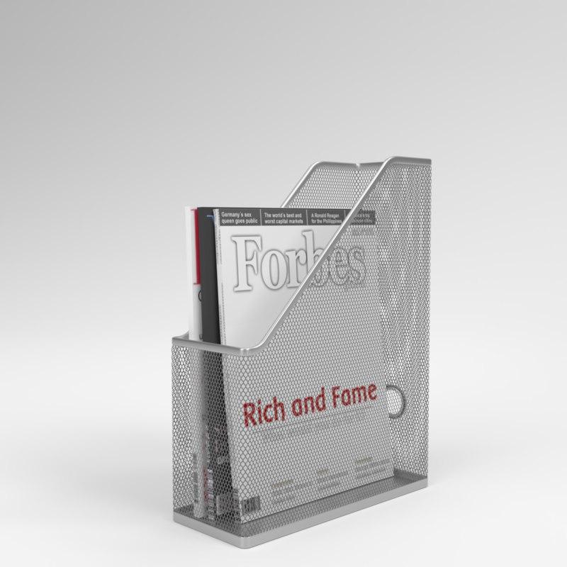 3D model interior ikea dokument magazine
