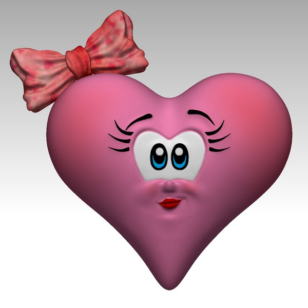 cartoon heart model