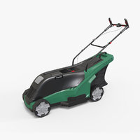 modern electric lawnmower 3D model