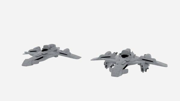 3D scifi spaceship