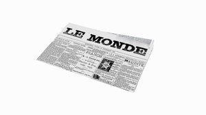 newspaper fold 3D model