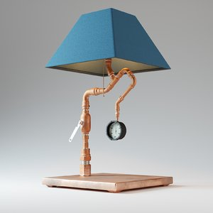 pipes table lamp 3D model
