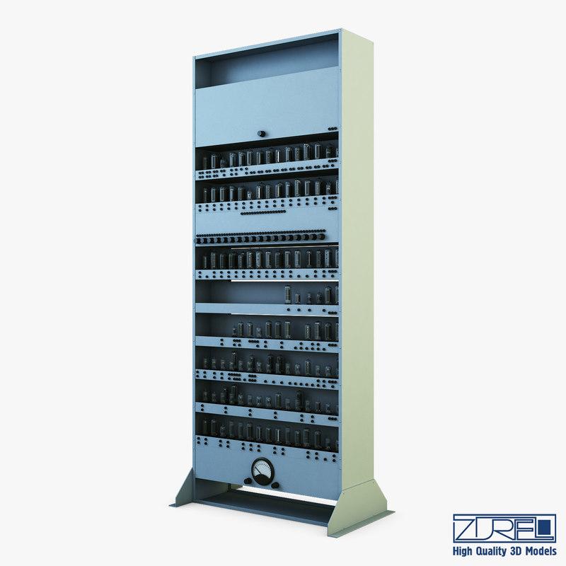 3D vacuum tube computer v model