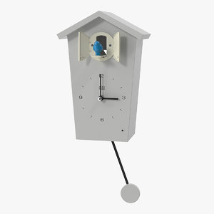 pendulum regulated cuckoo clock 3D