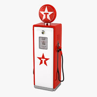 texaco gas pump 3D model