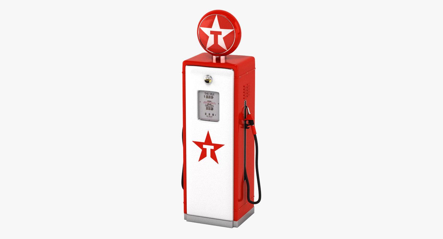 texaco gas pump 3D model