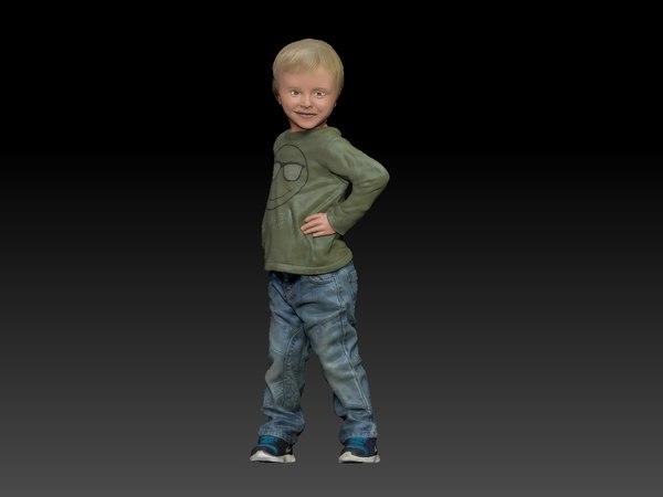 kid boy 3D model