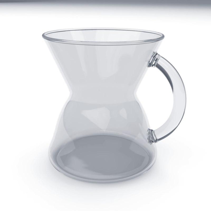 3D chemex glass mug model