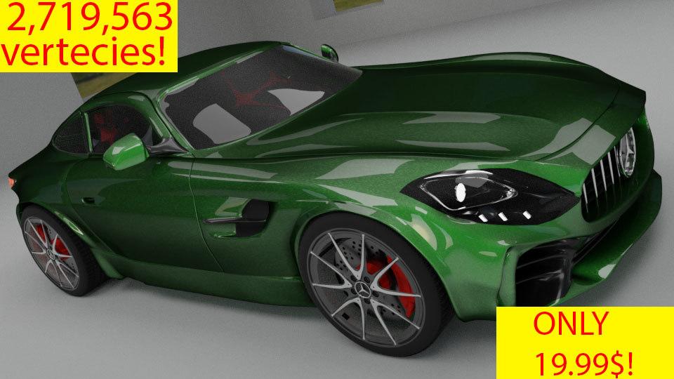 amg gt r car 3D