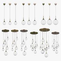 813 globo lightstar chandelier 3D model