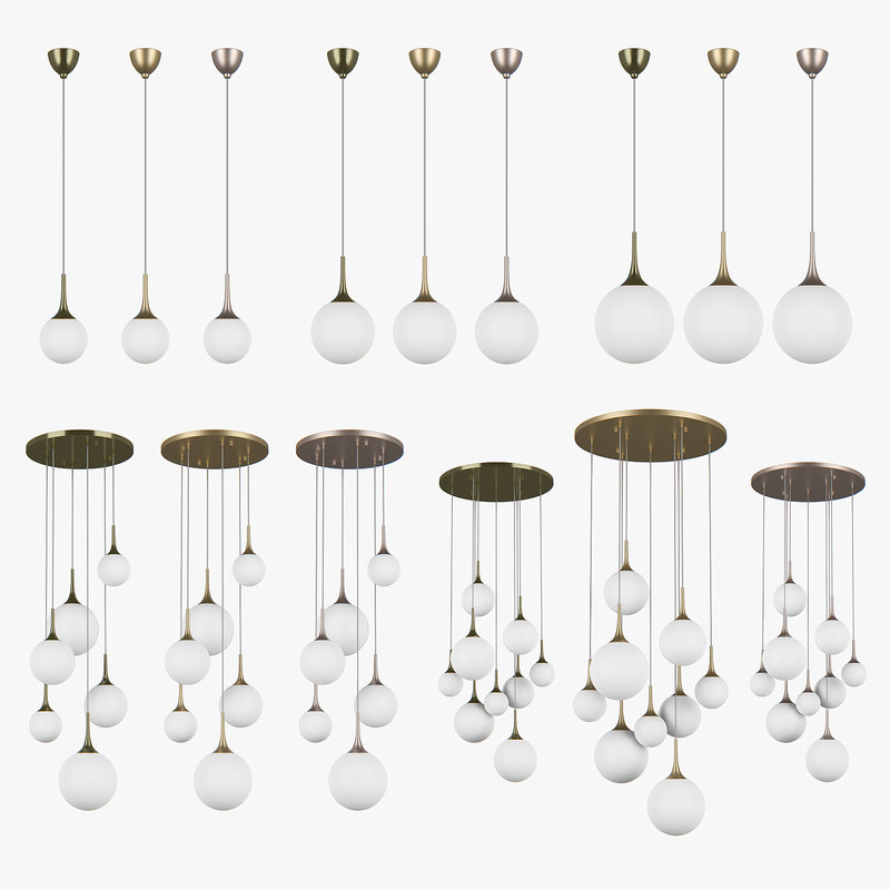 813 globo lightstar chandelier 3D model