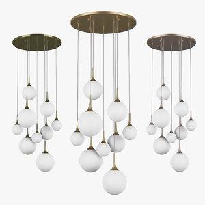 chandelier 81309x globo lightstar 3D model
