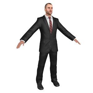 businessman body head model
