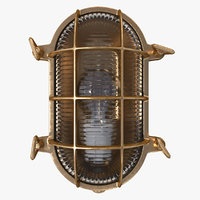 vintage bulkhead light brown 3D model