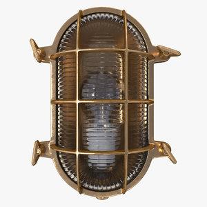 vintage bulkhead light brown 3D model