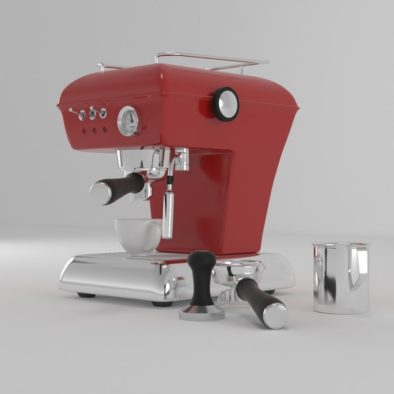 ascaso coffee machine 3D model