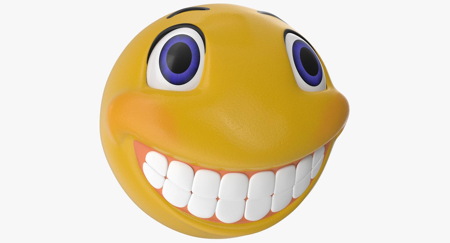 Smiley face 3D model - TurboSquid 1281021