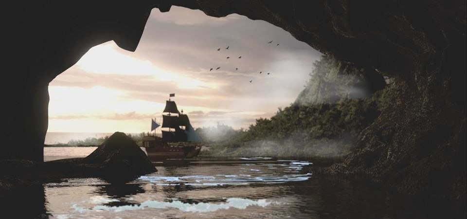cave island 3D model