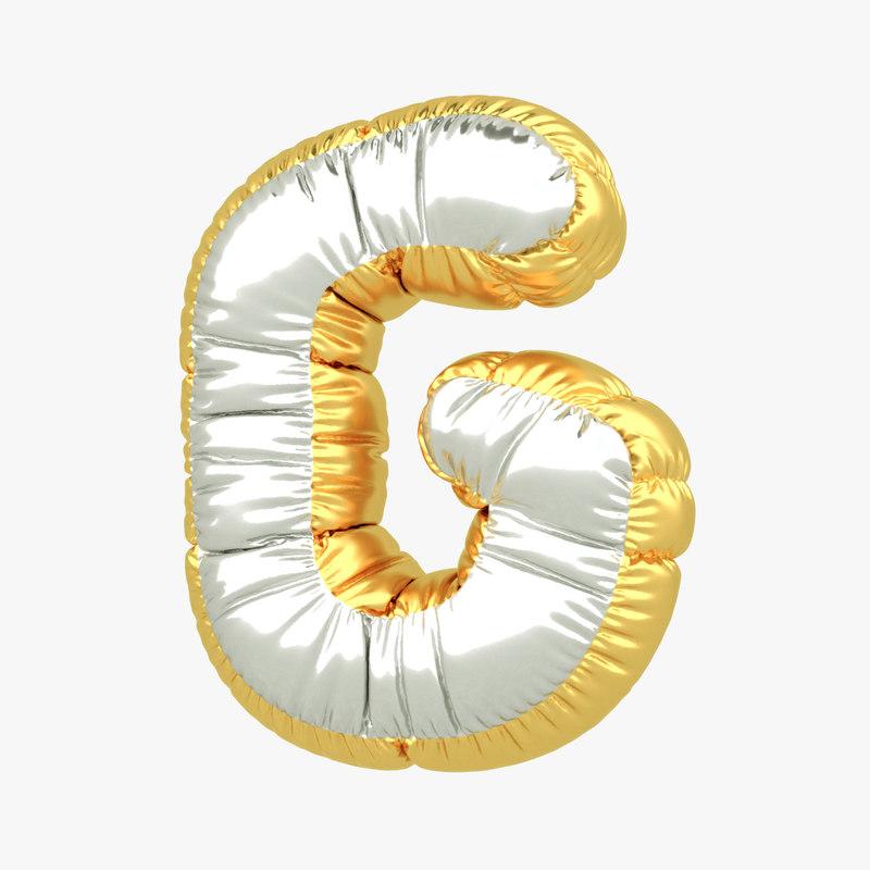 g balloon letter 3D model