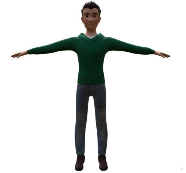 boy teenager 3D model