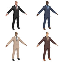 3D pack businessman world model