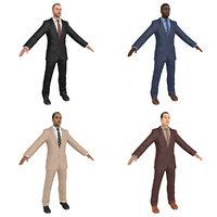 3D pack businessman world model