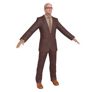 businessman man 3D model