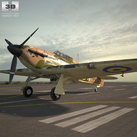 hawker hurricane 3D model