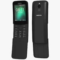 realistic nokia 8110 black 3D model