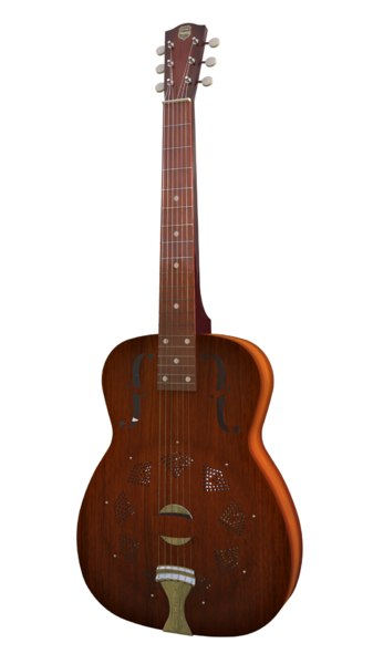 national duolian guitar 3D