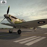 supermarine spitfire 3D model