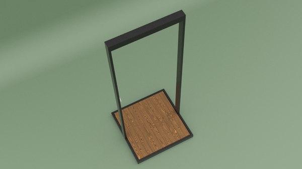 3D garden shower ar model