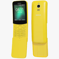 realistic nokia 8110 yellow 3D