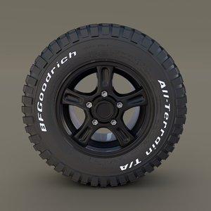 offroad alloy wheel 3D model
