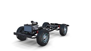 3D model offroad vehicle chassis
