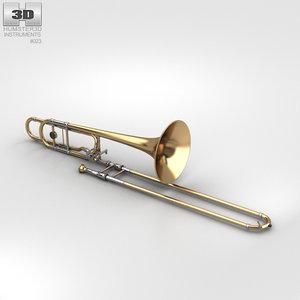 trombone musical instrument 3D