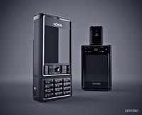 3D nokia 3250 smartphone model