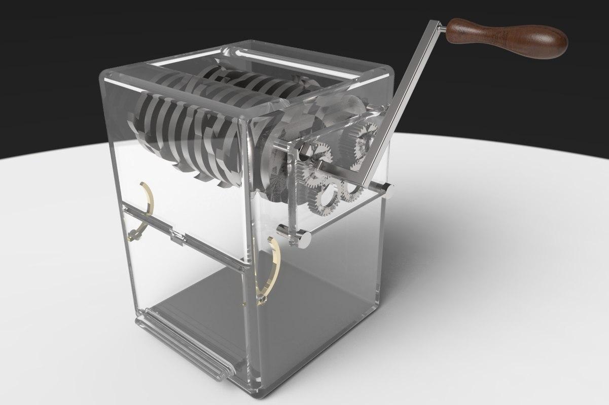 shredder recycling polymers model