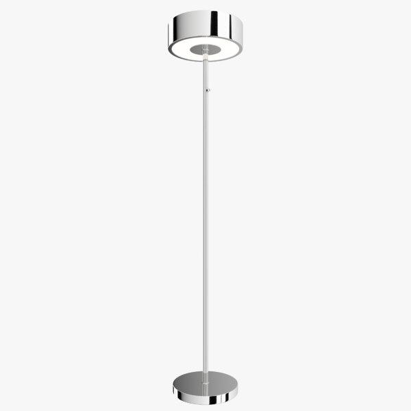floor lamp chrome 3D model