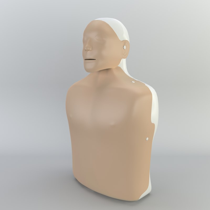 resuscitation doll 3D