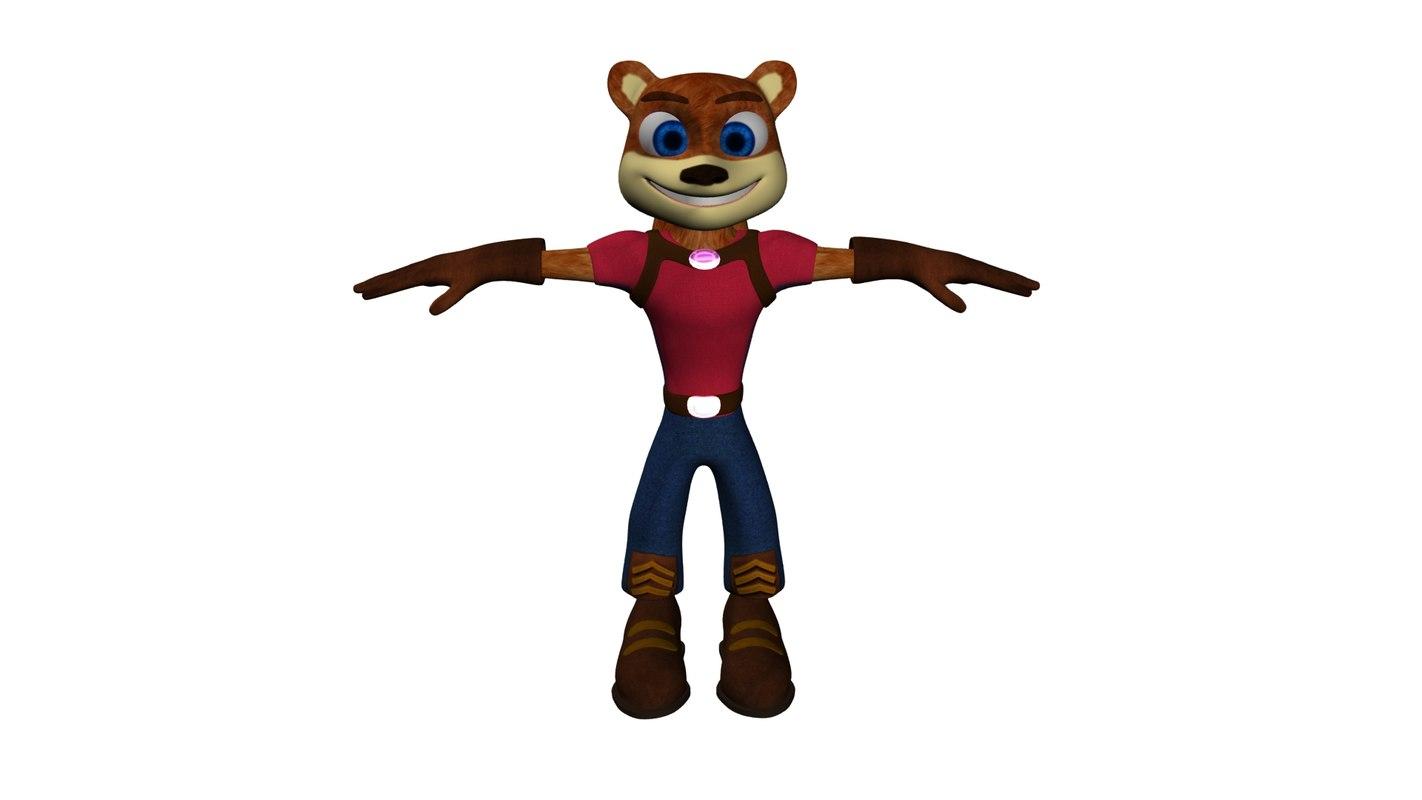 3D model squirrel animal