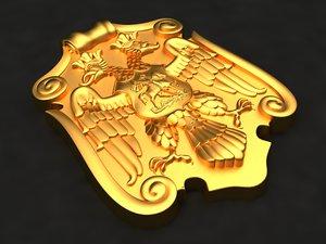 eagle mold gypsum 3D model