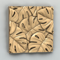 3D decorative wall panel model