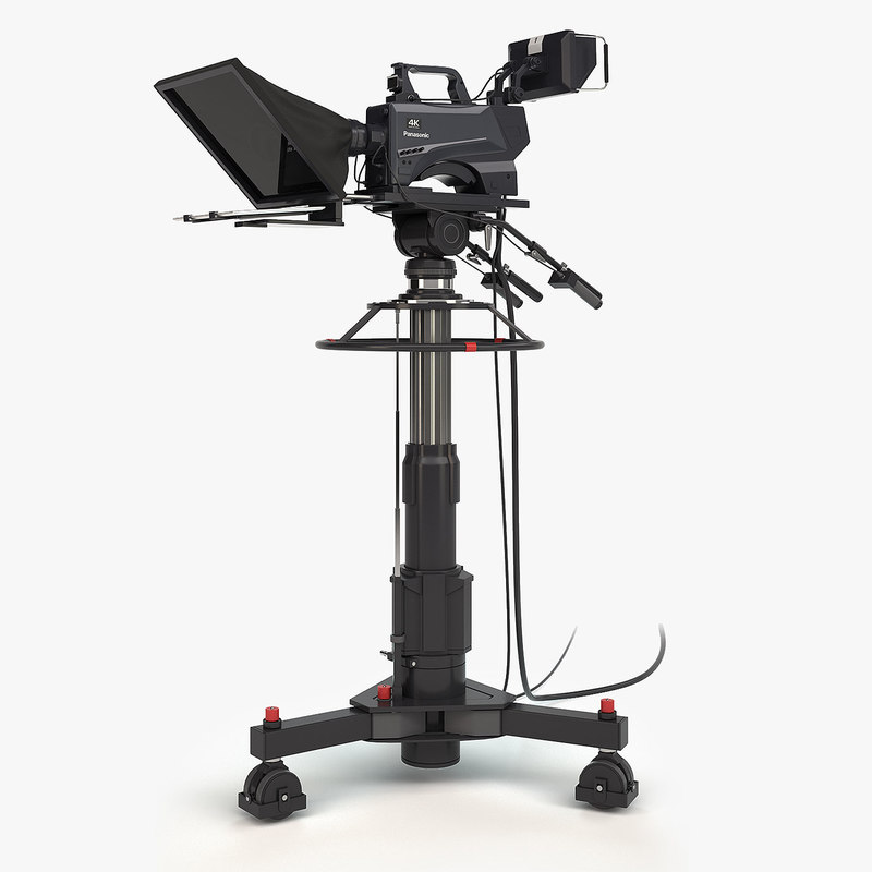 tv camera panasonic pedestal 3D model